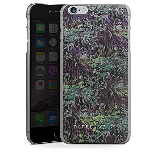 Apple iPhone X Silikon Hülle Case Schutzhülle BARRE NOIRE Blumen dschungel Hard Case anthrazit-klar