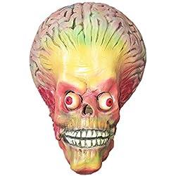 Mars Attacks Alien Mask Brain Alien Brain - Perfecto para Carnaval y Halloween - Disfraz de Adulto - Látex, unisexo Talla única