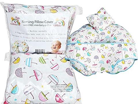 100% Baumwolle Umbrella Design Cover für Award-Gewinnen über die Rainbow Nursing Pillow, beinhaltet Baby-Kissen.