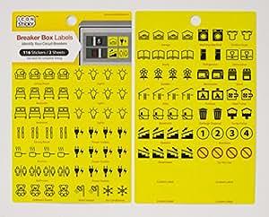 fuse box circuit breaker organiser labels (2 sheets) electrical panel box fuse box labels wiring diagram