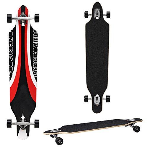 Longboard della ditta [pro.tec] (104 x 23 x 9,5 cm) - Cuscinetti a sfera ABEC 7 - Skateboard / Drop Through / Tavola da freeride / Tavola da cruising / Tavola vintage / Colore: