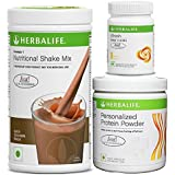 Herbalife formula 1(Dutch Chocolate) with Personalized Protein Powder(200gm)+Afresh(Lemon)