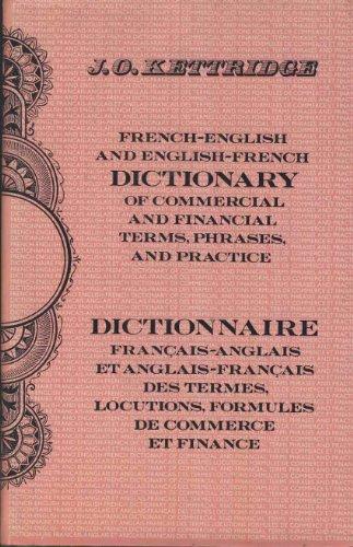dictionnaire francais-anglais et anglais-francais des termes,locutions, formules de commerce et finance