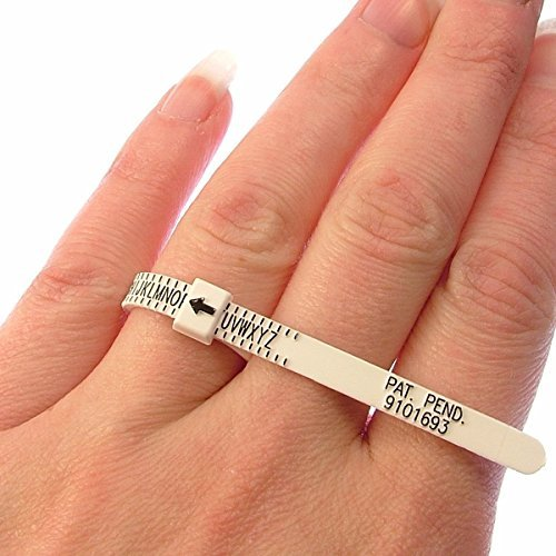 PEACOCK Ring Gauge Multisizer Economical Ring Sizer Gauge für Männer & Frauen / Check Ring Größe @ Home
