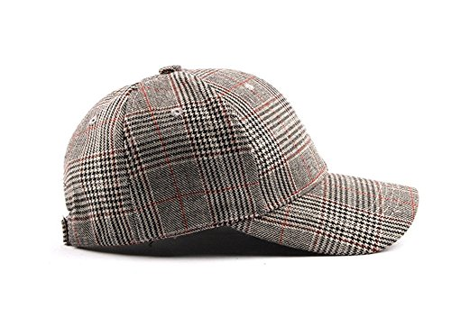 Imagen de dosige sombrero de cuadros para mujer,aire libre gorro, sombrero ajustable,visera de la señora,para alpinismo, pesca size 55 61cm marrón claro  alternativa