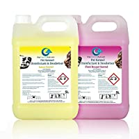 10L of The Chemical Hut Antibacterial Disinfectant Cleaner For Pet Dogs Cats Kennel Cattery House 1x Floraland 1x Lemon