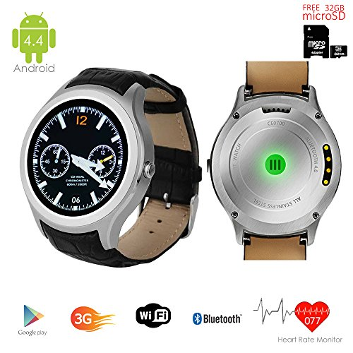 inDigi Neue 20163G 2-in-1-Smartwatch & Handy Android 4.4WiFi GPS GSM entsperrt-GRATIS 32GB SD. (Gsm-smartphones Unlocked Neue)