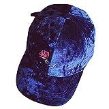 Unisex Baseballkappe, Sommer Visier Cap Damen Herren Hip hop Huts Einstellbare Snapback Klettermütze Hut Kappe Basecap Hüte Elegant Satin Material Caps (Blau)