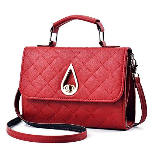 Versione Coreana Di Tendenza Alla Moda Trend Trend Portable Messenger Handbags WineRed