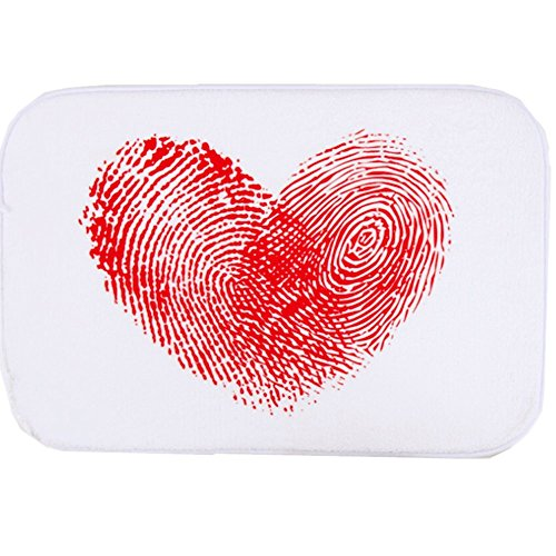O-C Handprints heart Outdoor Indoor Antiskid Absorbent Bedroom Livingroom Bath Mat Bathroom Shower Rugs Doormats