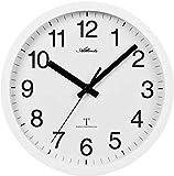 Atlanta Funkwanduhr mit großen Zahlen 25 cm Weiß 4496/0