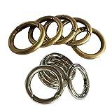 Baoblaze 10 Stück Silber Karabinerhaken Schnapphaken Karabiner Ring Snap Haken Karabinerhaken Clip für Schultergurt