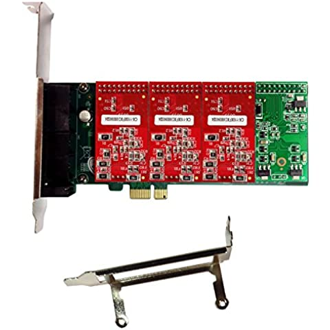 Asterisk Card AXE400PL with 3 FXO+1 FXS Ports,PCI-E Connector,with Low Profile for 2U