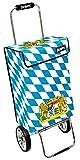 james  Einkaufstrolley Design Bavaria Deluxe, moderner Einkaufswagen, bunter Lifestyle Shopper, Trolly, Rollkoffer, 40kg Tragkraft, klappbar, Made in EU!