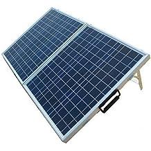 ECO-WORTHY 12V Portable pannello solare 80W Kit completo: 80 Watt modulo solare policristallino pieghevole con 10A Regolatore di carica 12 Volt Caricabatteria per Rv barca