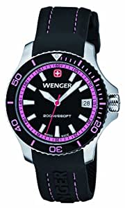 Wenger Field Classic Women's Quartz Watch with Black Dial Analogue Display and Black Silicone Strap 010621103