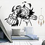 Ajcwhml Fiery Hulk decoración de la Pared Vinilo Etiqueta de la Pared Dormitorio niños decoración de la habitación Accesorios de la Pared calcomanía Arte Etiqueta Mural