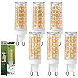 MENGS Paquete de 6 Bombilla LED G9 10W Lámpara LED, Equivalente Halógena 95W, Blanco Cálido 3000K, AC 220-240V, 800LM Luz LED