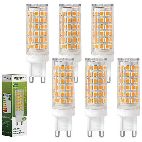 MENGS Paquete de 6 Bombilla LED G9 10W Lámpara LED, Equivalente Halógena 95W,...
