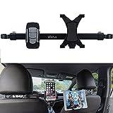 Auto Ipad/Iphone Halterung,Wietus Auto Rücksitz Kopfstütze Verlängerung Halterung für Telefon und Tablette, 360 Grad Rotation,geeignet für Handys innerhalb von3,5-6,0 Zoll und Tabletten oder ipad (TU HD-52)