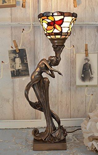 Florale Tischleuchte Jugendstil Nymphe Tischlampe Antik Leuchte Palazzo Exklusiv
