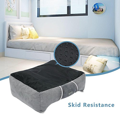 Pecute-Deluxe-Pet-Bed-for-Cats-and-Small-Medium-Dogs-Rectangle-Cuddler-with-Soft-Detachable-Cushion-Grey-Small-504318cm
