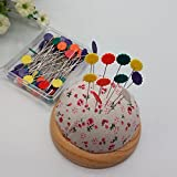 Generic 50Pcs Sewing Accessories Patchwork Pins Flower Sewing Pin Fixed Color Positioning Needle With Box One Piece