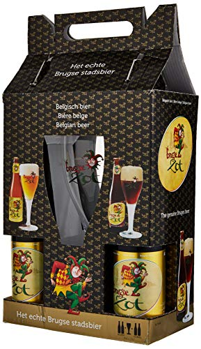 Brugse Zot Gift Pack with Glass, 4 x 330 ml