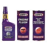 Wynns Engine Flush 425ml + Super Charge Oil Treatment 425ml + Diesel Injector