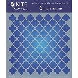 JudiKins 6-Inch Square Kite Stencil, Moroccan Lattice