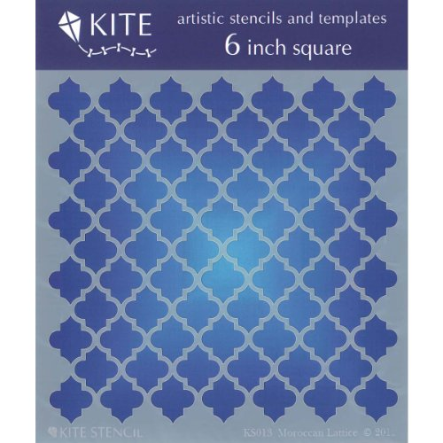 Judikins Schablone, quadratisch, marokkanisches Gitter, 15,2 cm