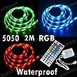 Ruban lumineux 30 LED RVB 5050 SMD par m�tre, longueur 2 m�tres, �tanche + t�l�commande IR 44 touches LD84