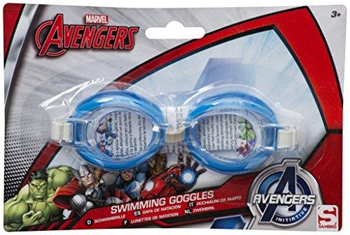 Schwimmbrille Avengers Motiv: Iron Man, Hulk, Thor, Captain -