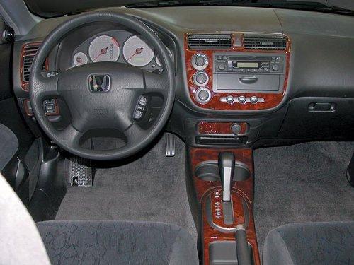 Honda Civic Innen Burl Wood Dash Trim Kit Set 2001 2002