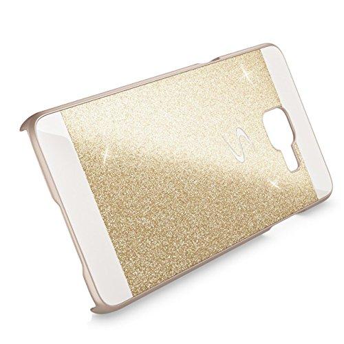 Coque Samsung Galaxy A3 2017 TPU Silicone Case,Vandot 3in1 Samsung A3 A320 2017 TPU Clair transparent Etui avec Bling Sparkle Cristal Rhinestone Coque Briller Diamont Strass Housse Extrêmement Mince L Scintiller-Or