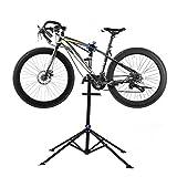 Support OUTAD pour réparation de vélo - Avec plateau à outils - Pliable - Hauteur réglable de 105 à 197cm - Pieds en ouverture parapluie - Capacité jusqu'à 50kg