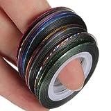 32 pcs nail Sticker Fil Bandes Striping Tape Autocollant Manucure Ongle Nail Art Tips