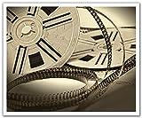 JP London schälen und Stick Abnehmbare Wandtattoo Aufkleber Wandbild, Spule Fun Cinema Noir Filmstreifen Classic, 24von 19.75-inch