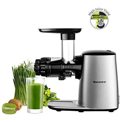 Juicer-maschine Masticating (Willsence Masticating Entsafter Extractor, 150W lärmarmer Langsamkaltpresse Entsafter, 5 einstellbare Einstellungen Obst und Gemüse Maschine, einfach zu reinigen und zu bedienen)
