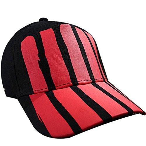 Belsen Damen Sun Sieg Vintage Baseball Cap Trucker Hat (Rote Streifen) (Distressed Dragon)