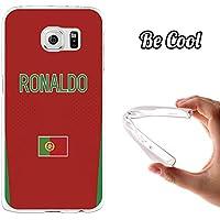 BeCool® - Custodia Gel Flessibile Samsung Galaxy S6 Cuore Custodia silicone TPU morbida M1022 Nazionale di calcio Portogallo Ronaldo