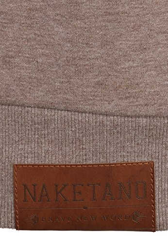 Naketano Male Zipped Jacket Schwarzkopf Djubre Melange