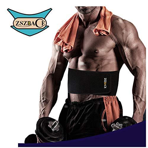 ZSZBACE Fascia lombare migliore, cintura lombare con doppie fasce elastiche per regolazione, in neoprene, unisex (S/M, Nero)