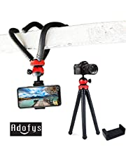 Adofys Flexible Gorillapod Tripod with 360° Rotating Ball Head Tripod for All DSLR Cameras(Max Load 1.5 kgs) & Mobile Phones + Free Heavy Duty Mobile Holder(Black) (12 Inch, Black and Red)