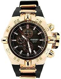 V6 Montre Homme - Montre Homme Bracelet Silicone Noir 2716