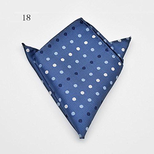 ZJM Mouchoir Pocket Square Premium Satin mouchoir 14 couleurs à choisir carrée Hanky ( Couleur : #18 ) #18