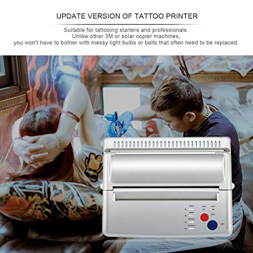 JohnJohnsen Styling Professionelle Tattoo Stencil Maker Transfermaschine Flash Thermokopierer Drucker Liefert EU/US-Stecker (EU-Stecker)
