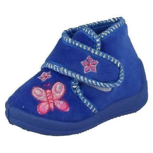 Spot On Velcro Stivaletto/farfalla cuciture, blu (Royal Blue), 45 EU