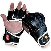 GranVela® ZOOBOO Gants de boxe, gants de combat Sports MMA Muay Thai formation Punching Bag Half Mitaines Sparring Boxe Gym main Wraps