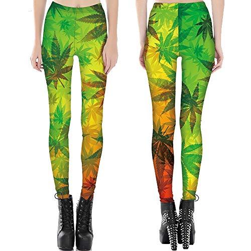 552eb15a47525 AYTOP Pantalone Yoga Green Space Galaxy Fitness Leggings Magro Flaming Star  Nebula 3D Print Pantaloni Donna